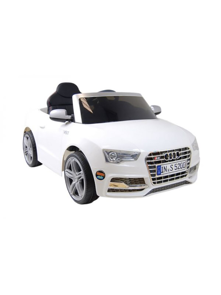 voiture lectrique 12v style audi s5 blanche. Black Bedroom Furniture Sets. Home Design Ideas