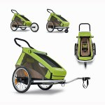 remorque enfant Croozer (E) 2016 Kid for 1 vert monoplace