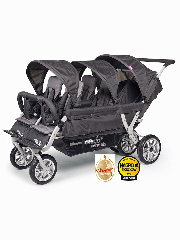 poussette multiplace 6 places Child Wheels