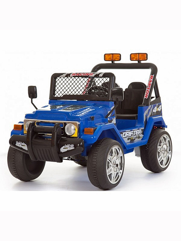 voiture lectrique 2 places 12v jeep raptor bleu pack evo. Black Bedroom Furniture Sets. Home Design Ideas