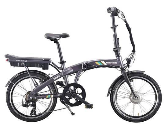 Buy a Benelli Fold City Electric Bike Grey from E-Bikes Direct