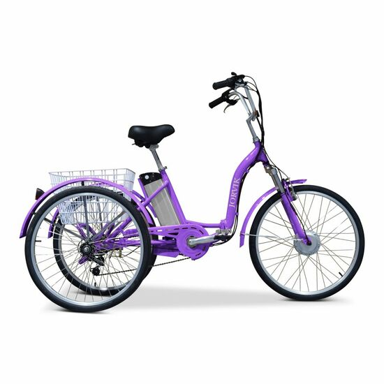 Buy a Jorvik Folding Electric Trike Purple from E-Bikes Direct Outlet