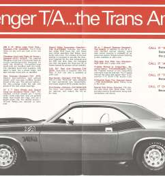 1970 dodge challenger ta brochure page 2 download 1970 dodge challenger ta brochure page 3 [ 5100 x 3300 Pixel ]