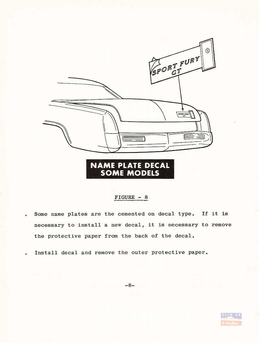 1970 Passenger Car Service Training Highlights – Body