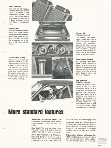 1971 Dodge Car & Truck Data Book Dart & Demon