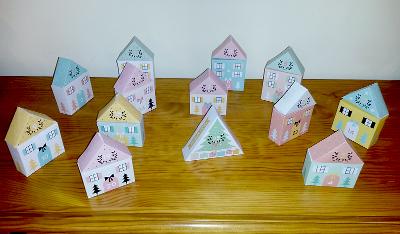 Village de Noël, d'après le patron du Blog Zü