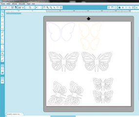 Papillons de la Butterfly shadow box, de Ashbee Design Silhouette Projects
