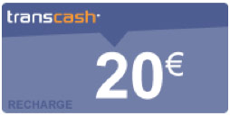recharge transcash 20€