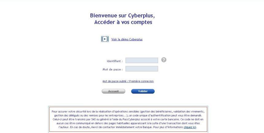 connexion Cyberplus
