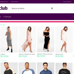 Vitrine de produtos E-Com Club