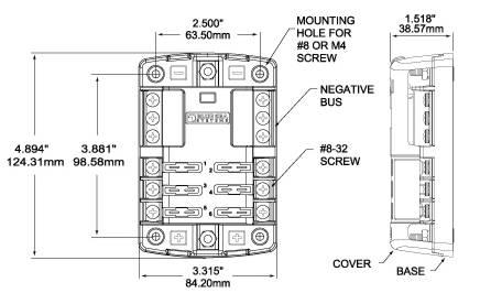 Skrzynka bezpiecznika płaskiego 6-krotna e-connectors