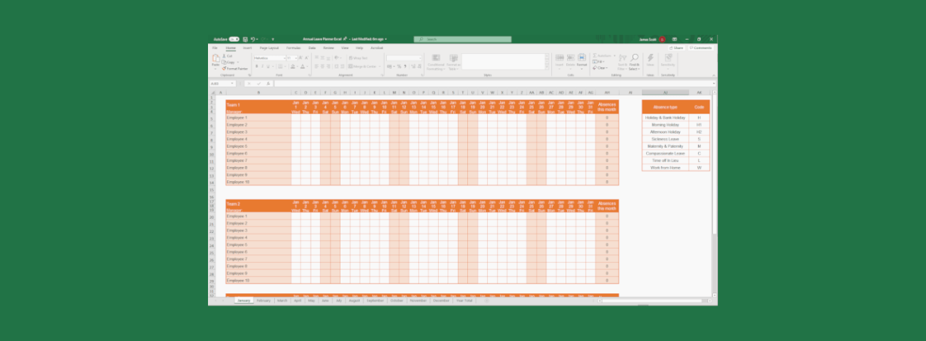 Free Excel Holiday Planner Template E Days