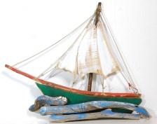 Χειροποίητο ξύλινο επιτοίχιο καράβι Τσερνίκι.