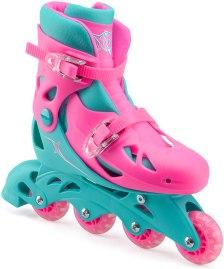 Xootz – Ρυθμιζόμενα Inline Roller Skates μεγέθους 27 έως 30.5 – Ροζ