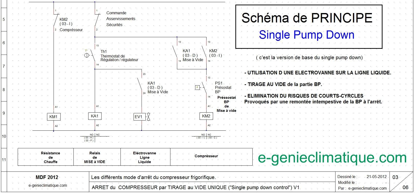Froid13 Schma Lectrique Arrt Compresseur Single Pump