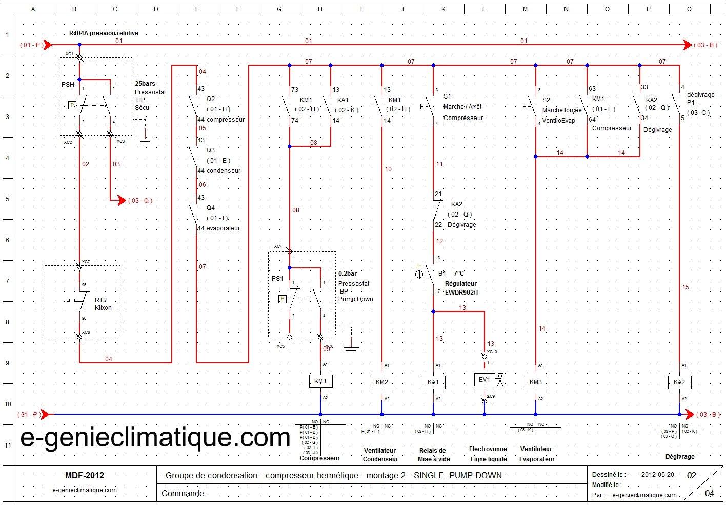 Froid17Le 2me montagegroupe hermtique avec le single pump downschmas lectriques  e