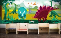 DINOSAUR KIDS WALLPAPER - Panoramic Wall Mural for Boy Room