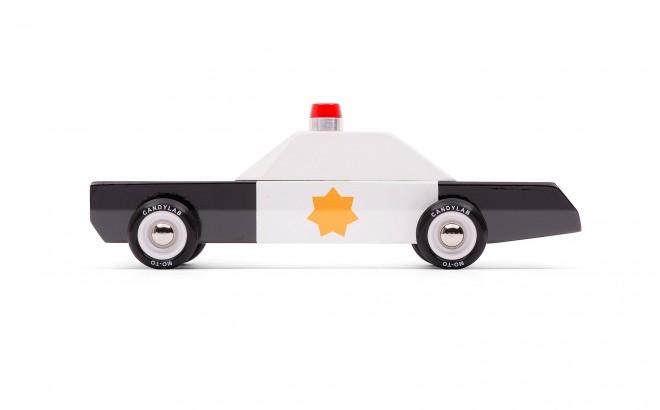 police cruiser voiture de police en bois
