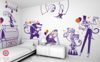 Circus Animals Wall Decals for Childrens Room