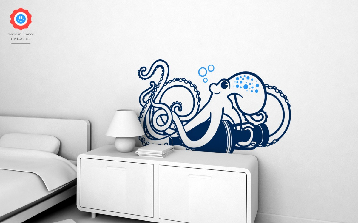 Underwater World Octopus Wall Decal