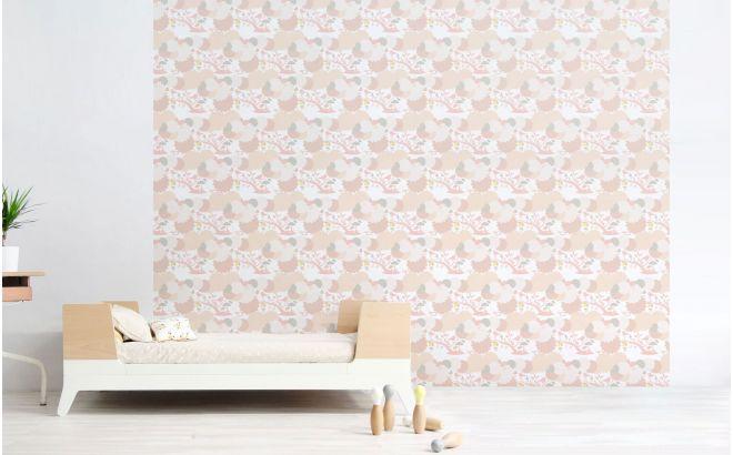 Pink Bird Nursery Wallpaper Girls Room Wallpaper And Wall Murals