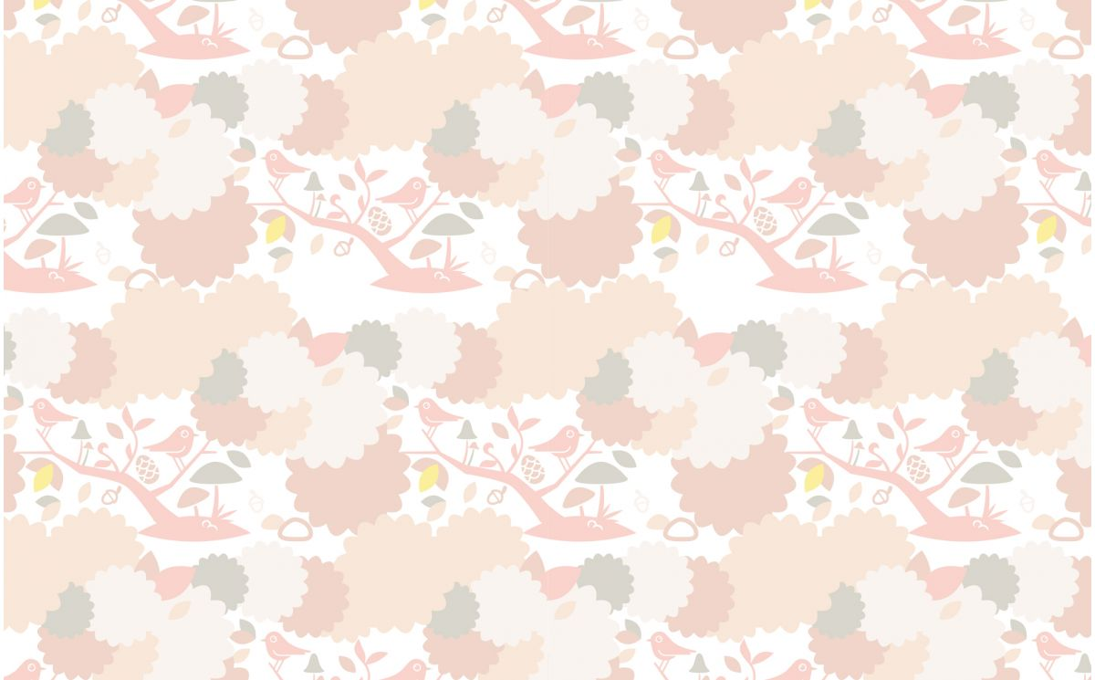 Cute Wallpapers Hd Baby Pink Bird Nursery Wallpaper Girls Room Wallpaper And