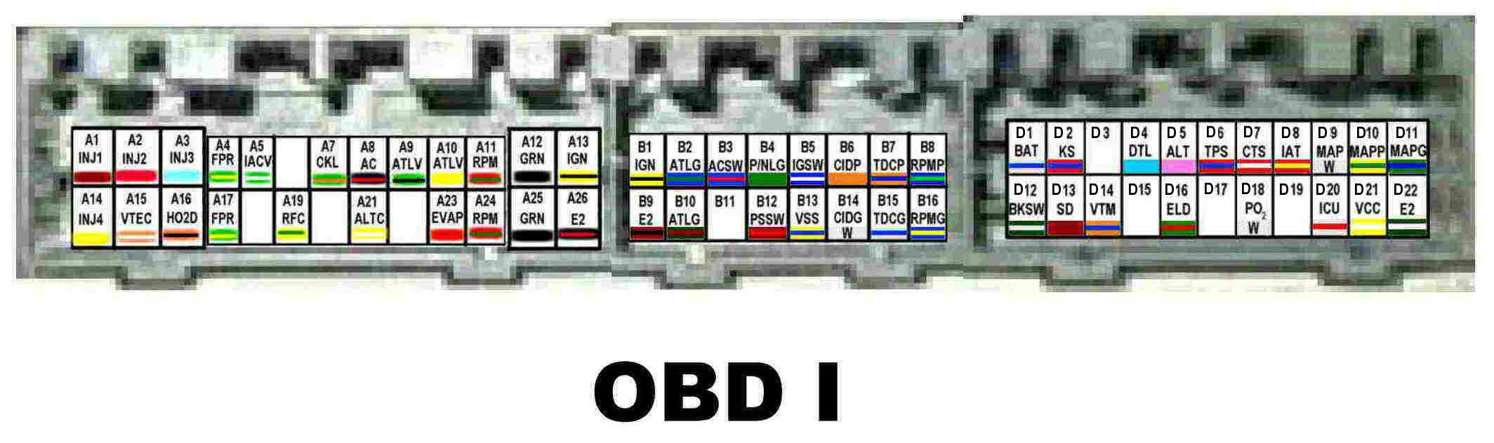 Wiring Diagram Colors Pinouts For 9698 Obd2a Vehicles