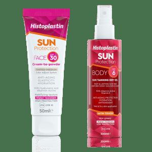 Histoplastin SUN FACE SPF30 + Histoplastin SUN TANNING DRY OIL SPF6