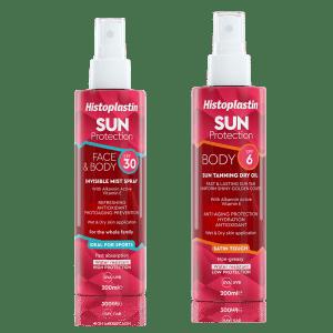 Histoplastin SUN MIST SPF30 + Histoplastin SUN TANNING DRY OIL SPF6