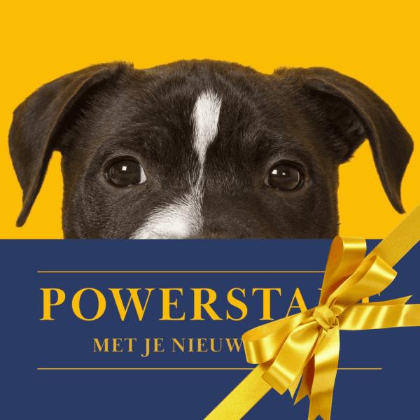 Cadeaukaart Powerstart met je nieuwe hond