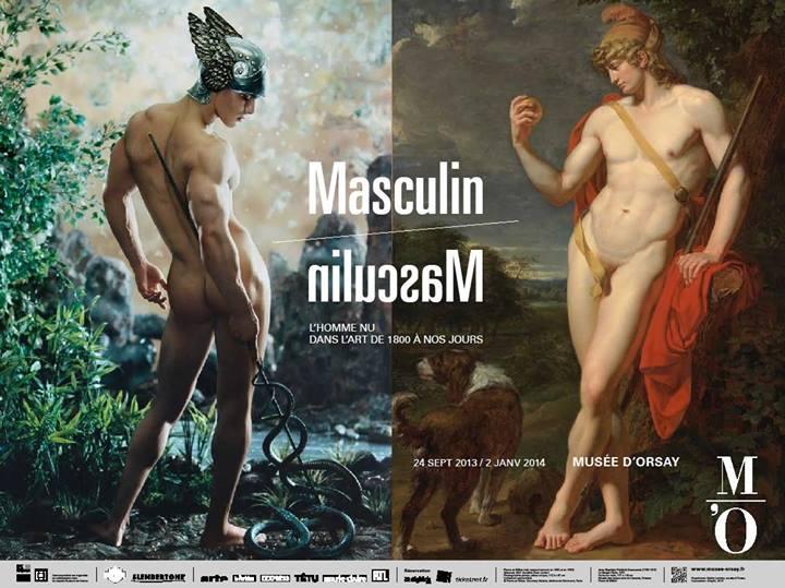 Masculino / Masculino. El hombre desnudo en el arte de 1800 hasta la actualidad.