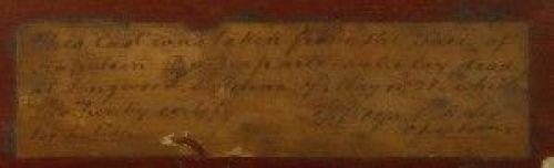 """Nota manuscrita por el reverendo Boys que acompaña a la máscara denominada """"Boys""""."""