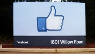 Facebook like symbol on sign