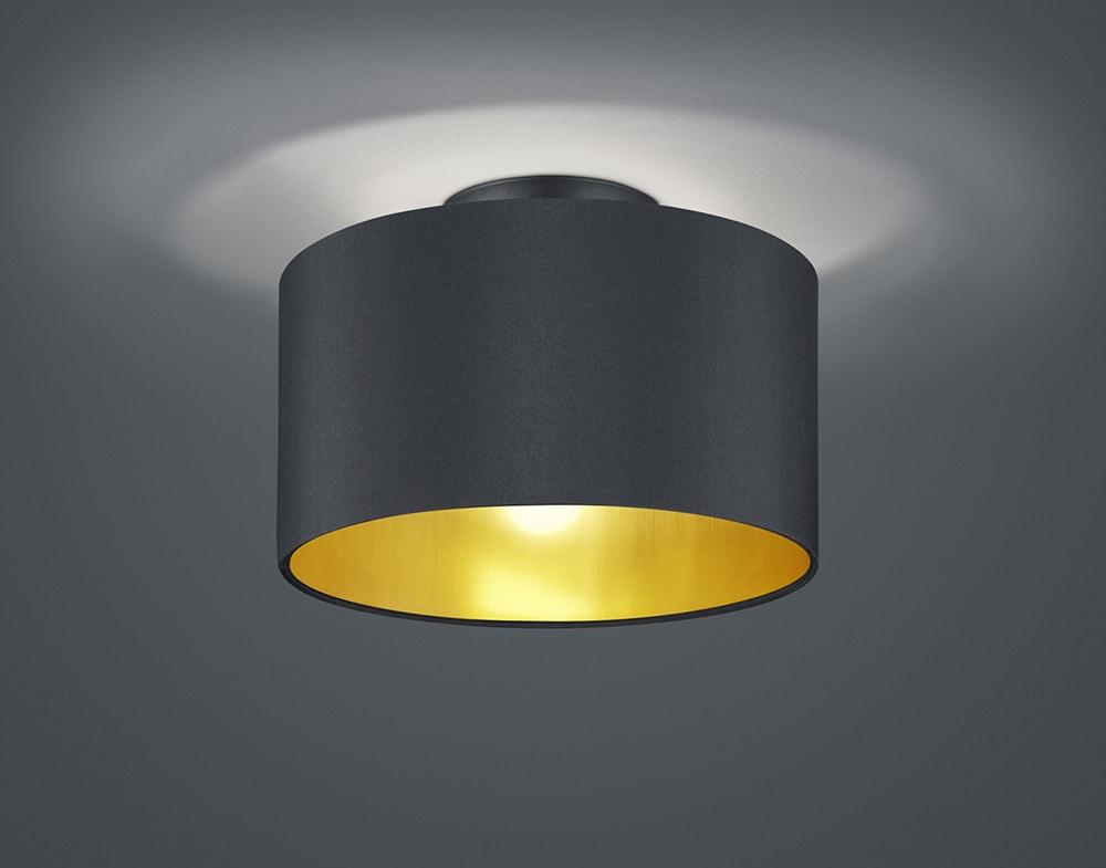 plafonnier pencha noir et or 2 lampes