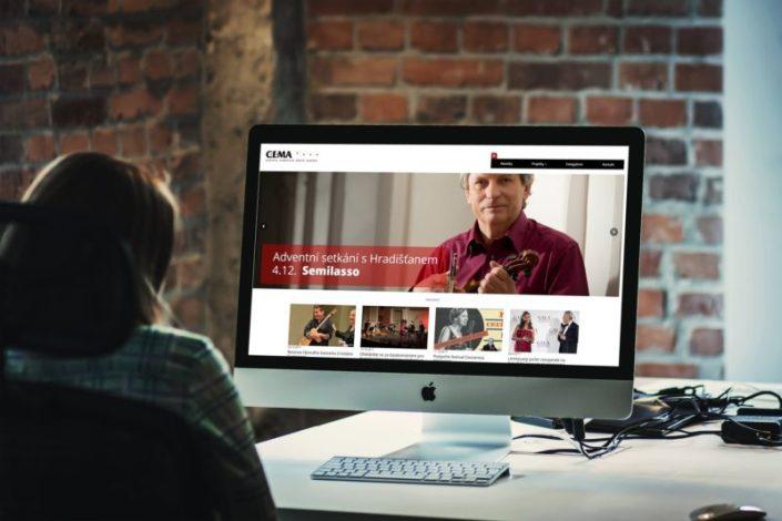 Web pro agenturu pořádající kulturní akce   www.cema-music.com