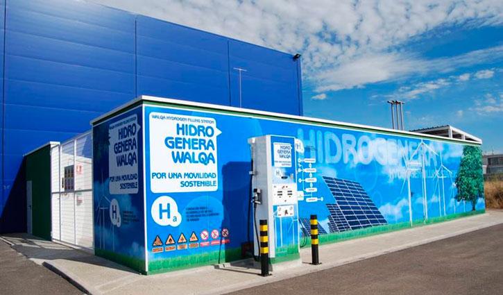 Figura 1. Hidrogenera de las instalaciones de la Fundación para el Desarrollo de las Nuevas Tecnologías del Hidrógeno en Aragón.