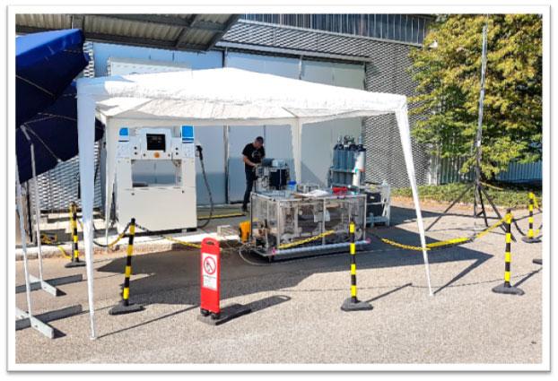 Figura 4. Patrón de Prueba de Campo de Hidrógeno (HFTS). Fuente: METAS