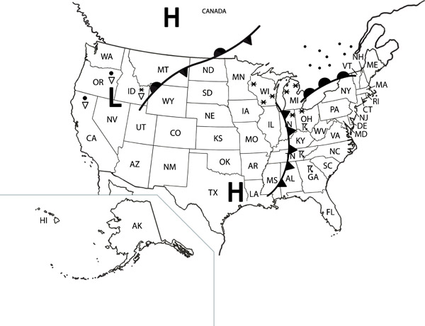 Weather Map Symbols Worksheet. 11 best images of weather