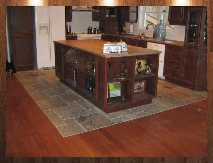 comptoir bois cuisine