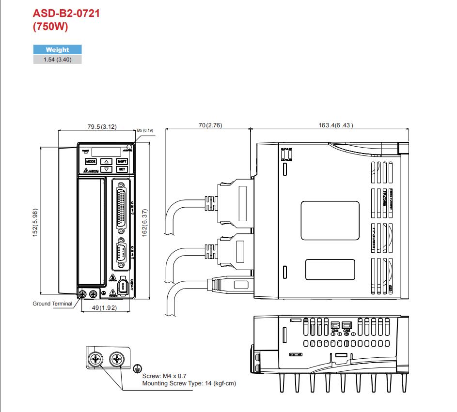 Delta: AC Servo Drives ASD-B2-0121-B