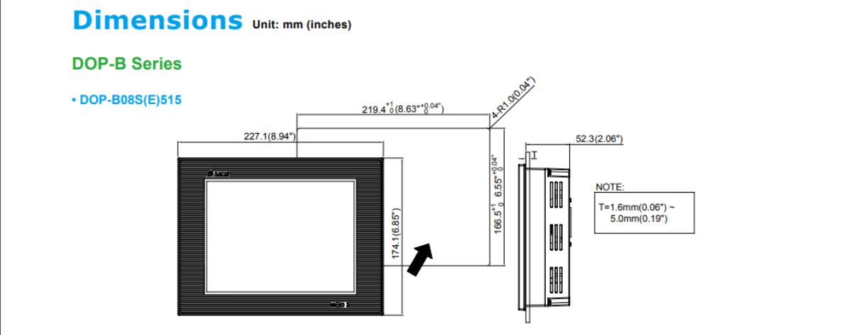 The Delta DOP-B series of HMI (human machine interface