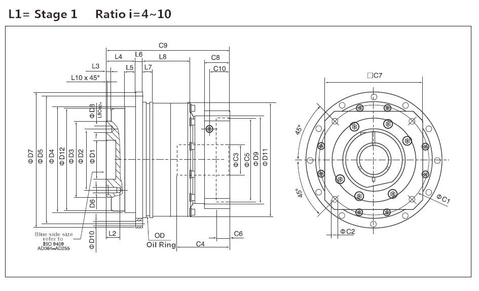 Cyclone Gearbox: ED Series (P2:Standard) Stage 1
