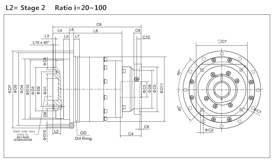 Cyclone Gearbox: ED Series (P2:Standard) Stage 2