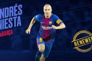 Iniesta signs lifetime contract with Barcelona
