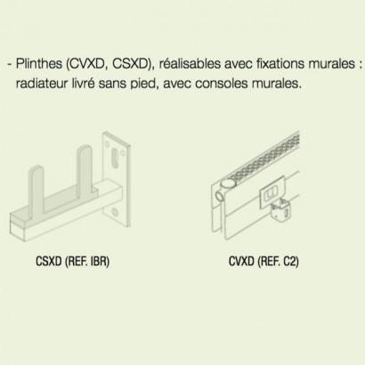 option fixation murale pour radiateurs