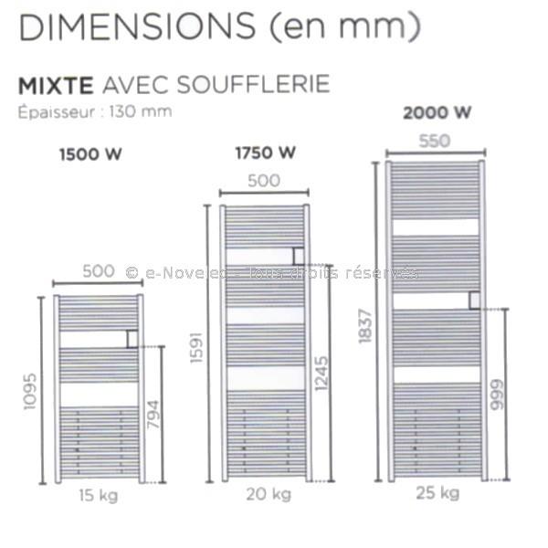 Riva 4 Mixte Soufflerie Seche Serviettes Eau Chaude Resistance Soufflant Thermor