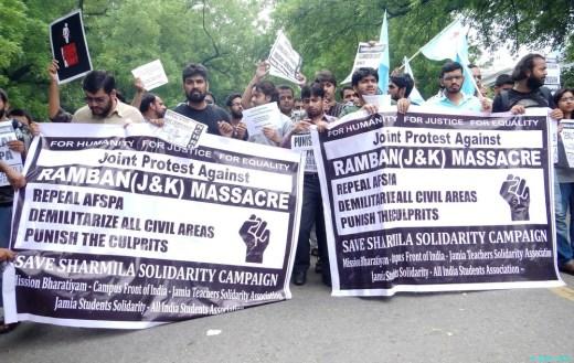 Protest Against Ramban (J&K) Killing at Jantar Mantar, New Delhi :: 21 July 2013