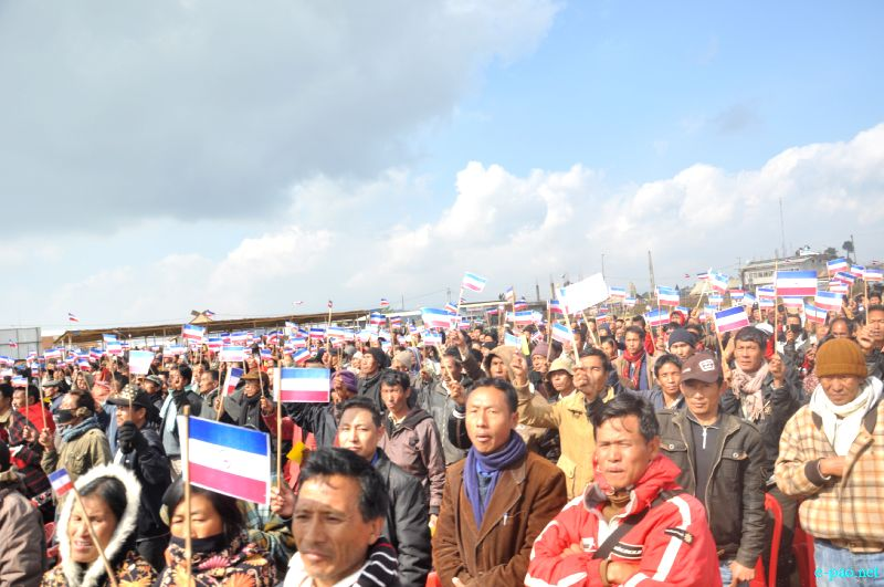 Nephiu Rio campaigning for NPF candidates in Manipur's Hill districts :: January 21, 2012