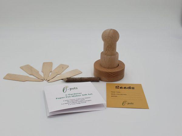 e-pots paper pot maker gift set contents