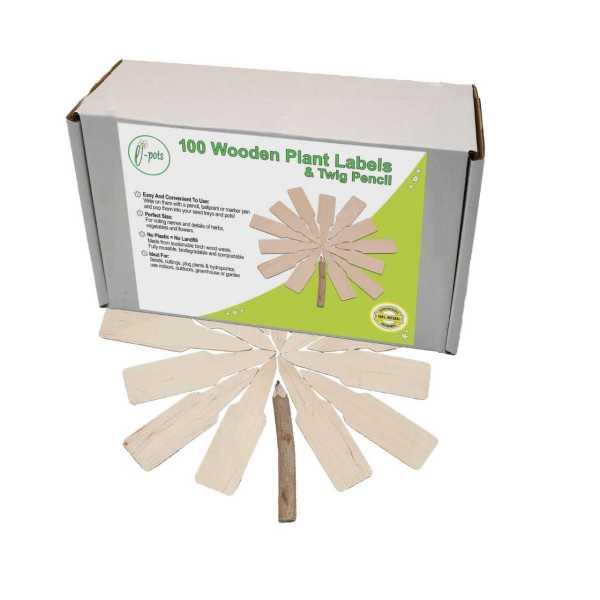 e-pots 100 wooden labels